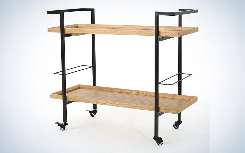 Christopher Knight Industrial Wooden Bar Cart