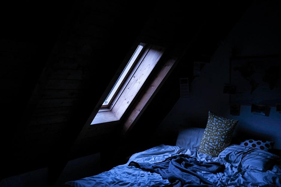 bed near a window