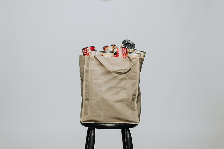 cans in a bag