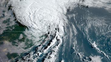 satellite image of hurricane isaias