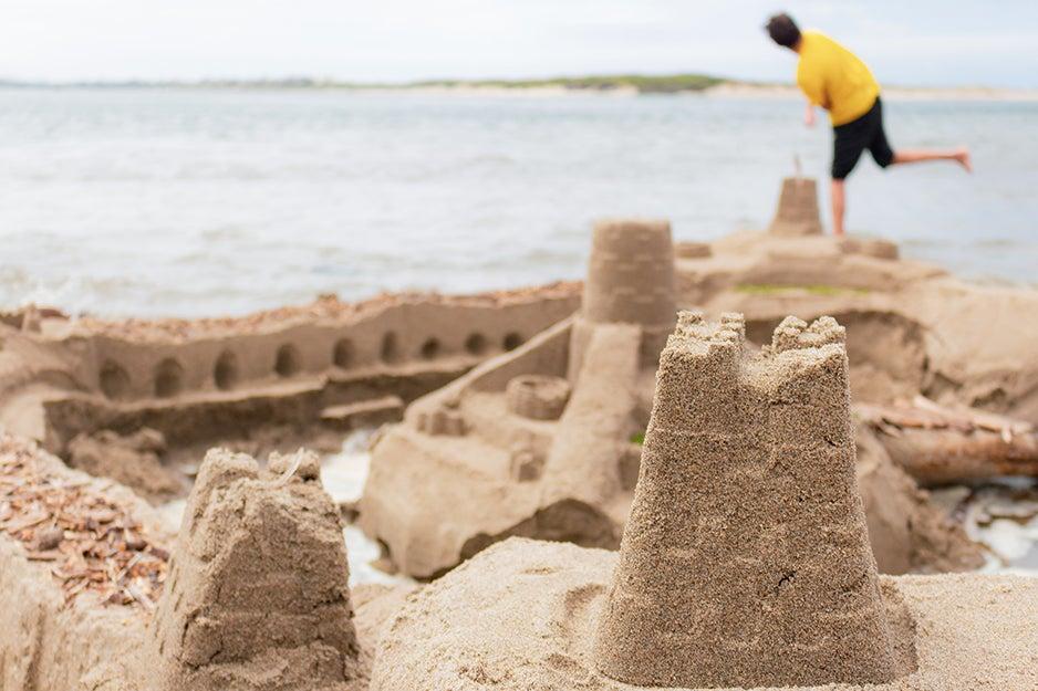 sandcastle at the beach