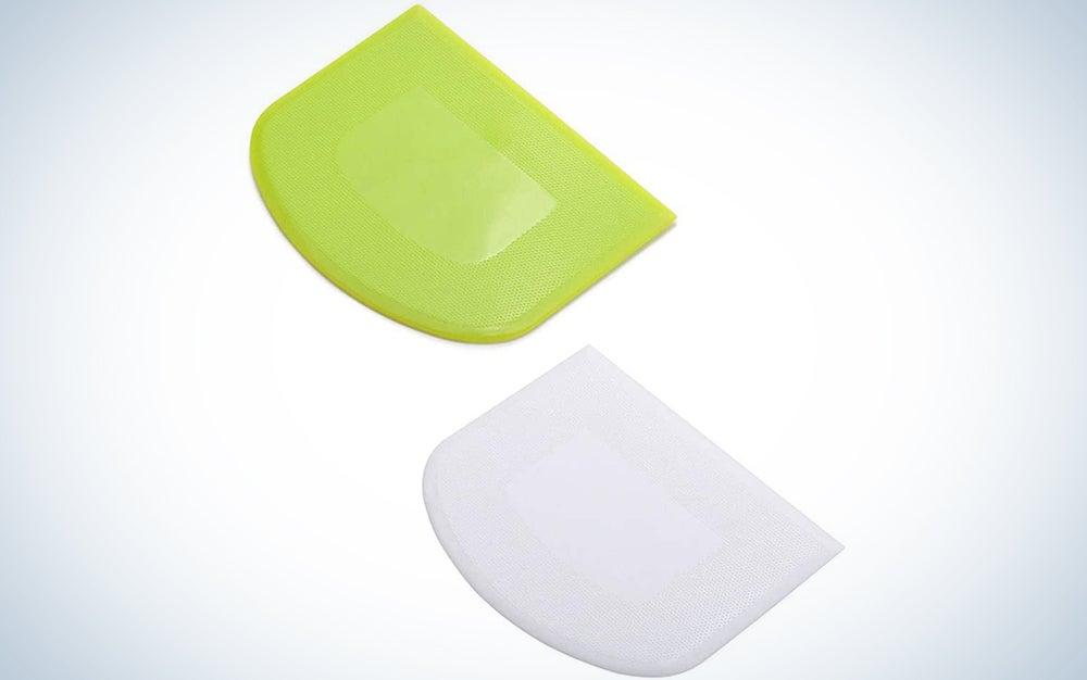 2 Pieces Dough Scraper Bowl Scraper Food-safe Plastic