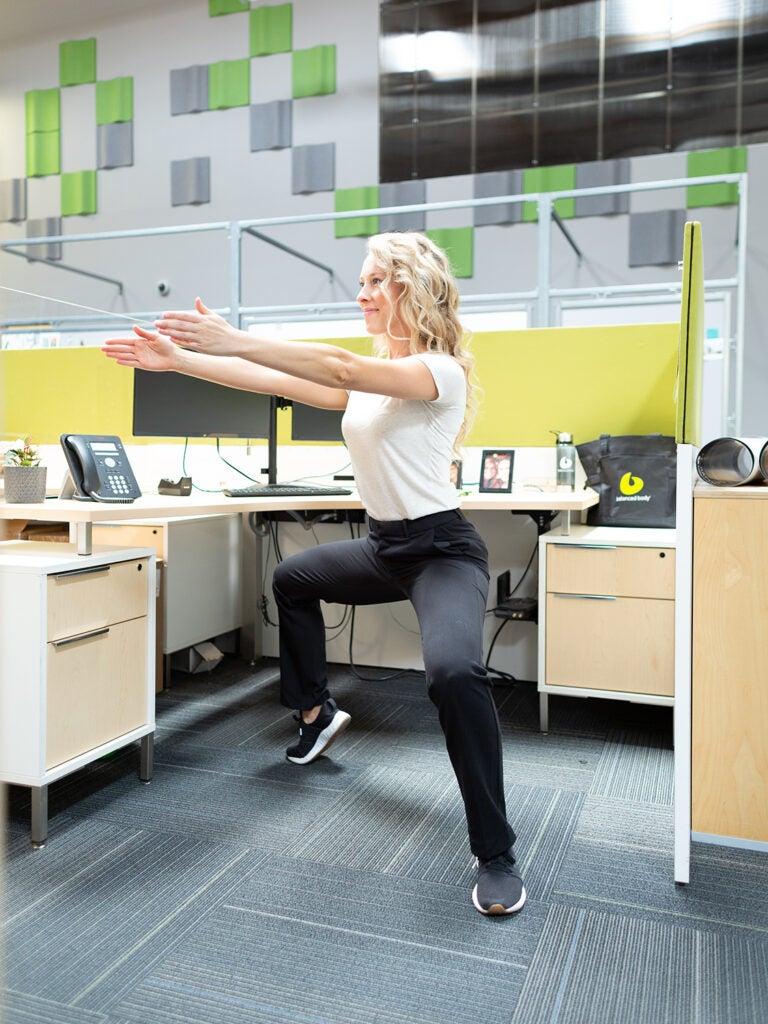 wide squat variation