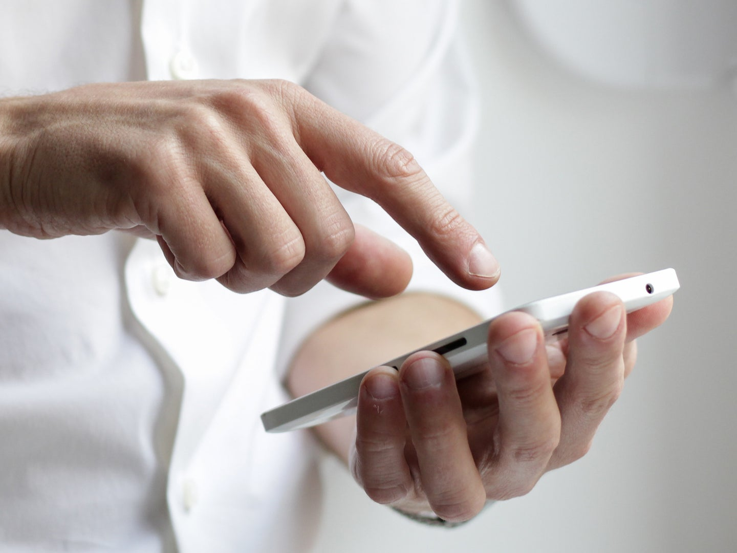 a person using a phone