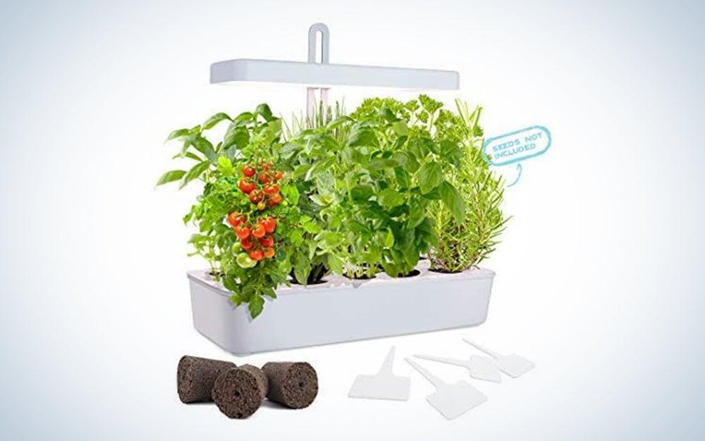 GrowLED LED Height Adjustable,10-Pod Indoor Garden Germination Kit