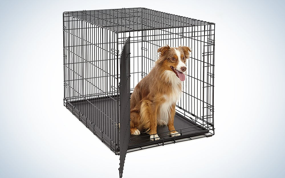 Life Stages LS-1642 Single Door Folding Crate for Large Dogs