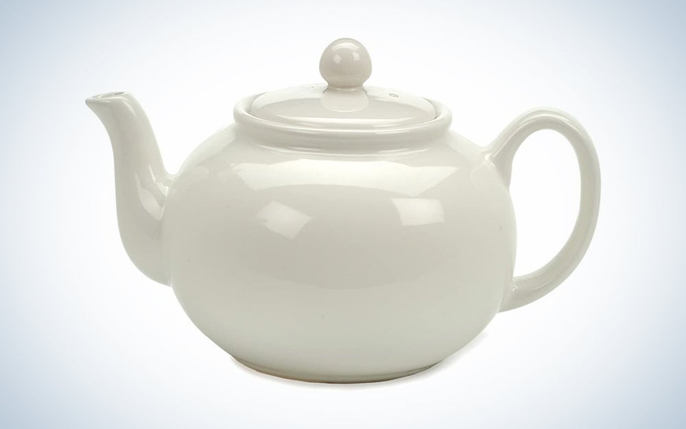 RSVP Large 6-Cup Stoneware Teapot