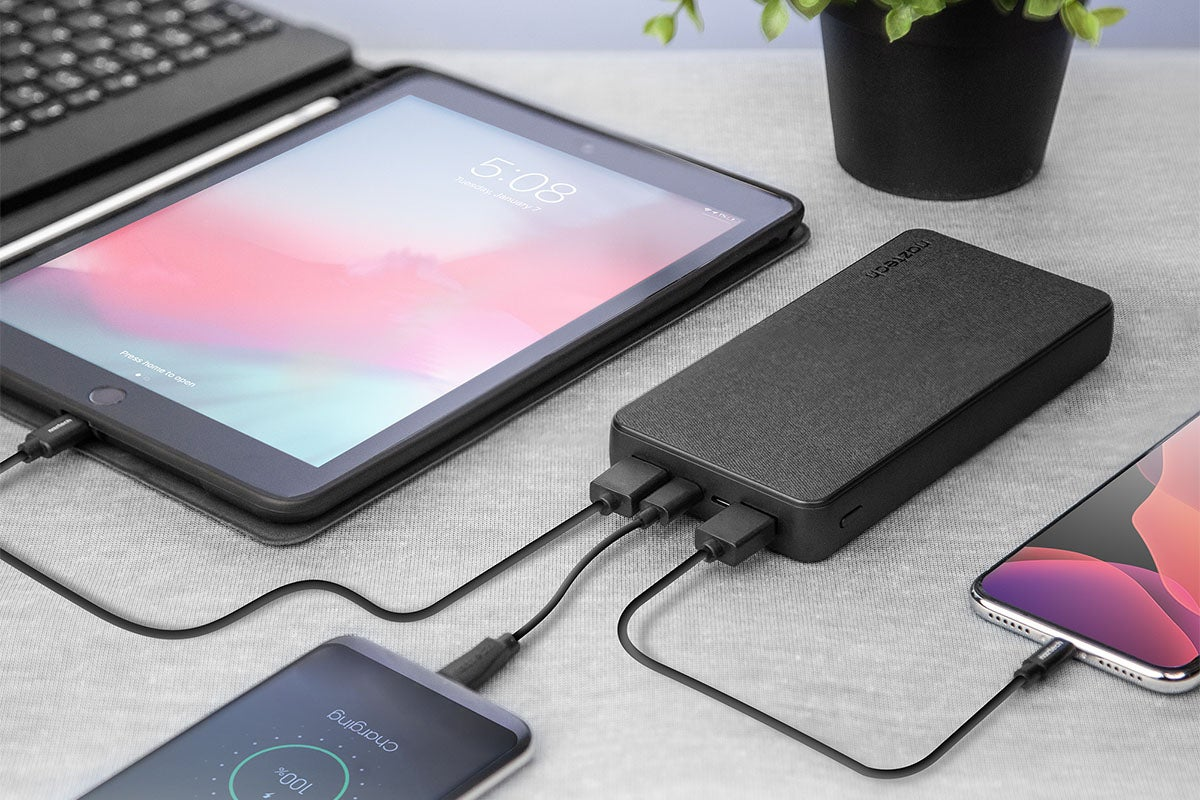 The Naztech 20,000mAh Fabric Power Bank
