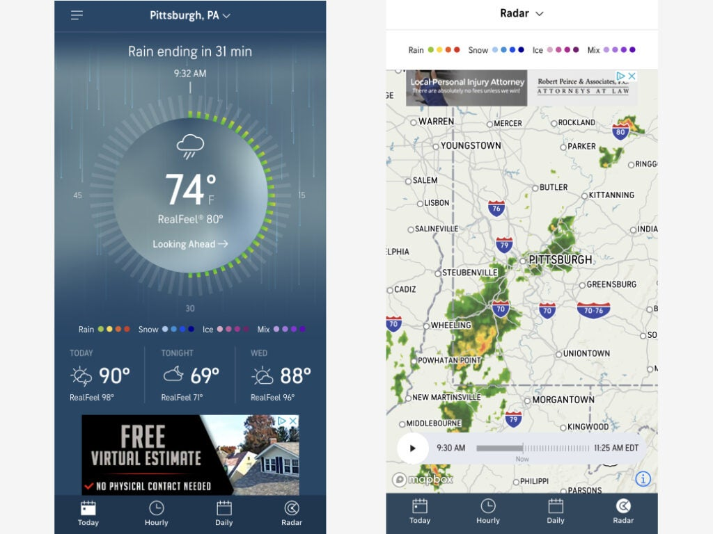 AccuWeather's MinuteCast feature earns it recognition as one of the best weather apps on Android or iOS.