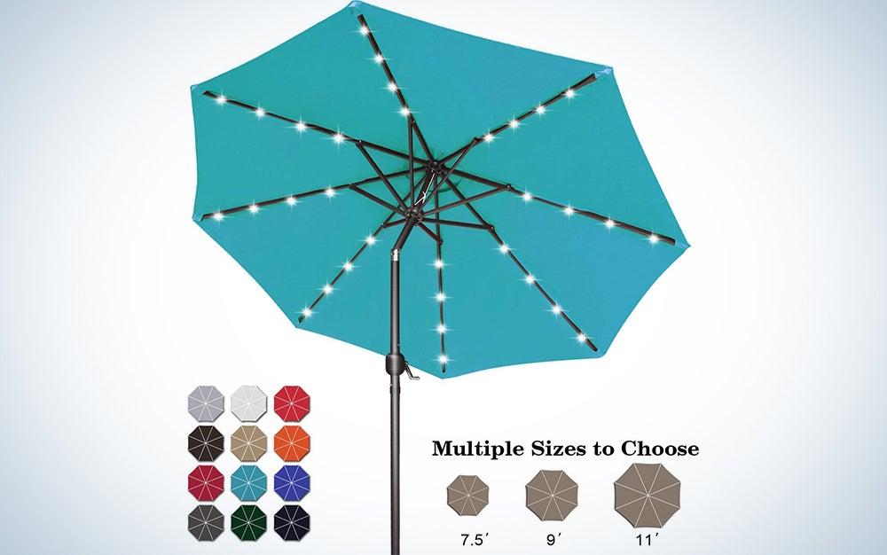 ABCCANOPY 7.5FT Solar LED Umbrella