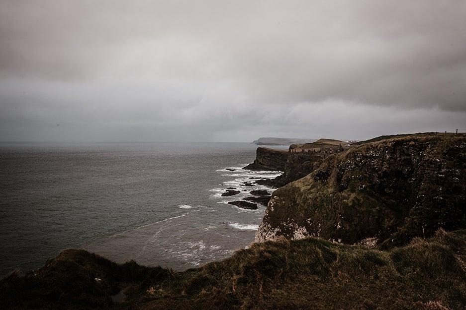 Cliffs near ocean