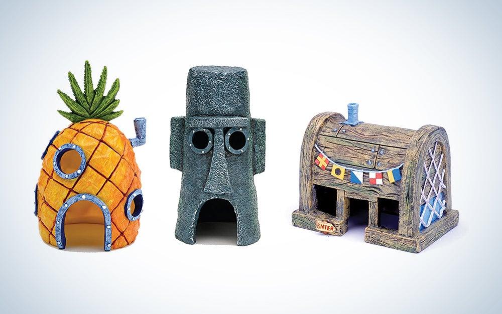 Penn-Plax Spongebob Squarepants Aquarium Ornaments