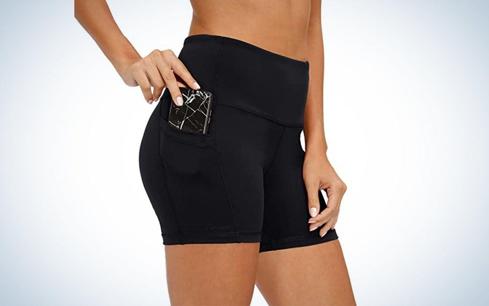 CQC Women's High Waist Yoga Compression Shorts