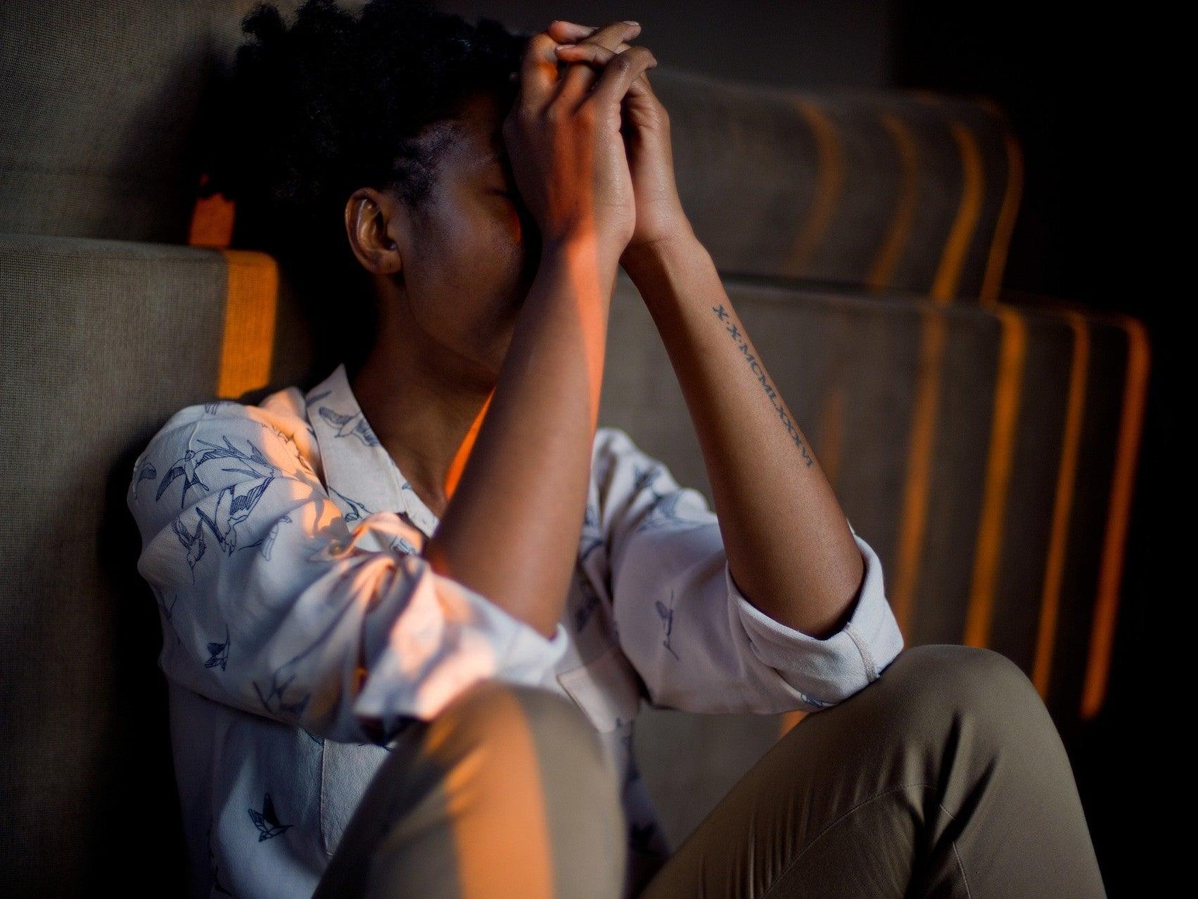 person under stress