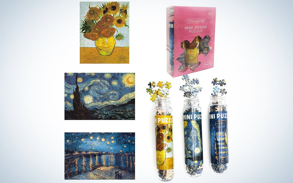 """Small Jigsaw Puzzles Of """"Starry Night"""" and """"Sunflower"""""""