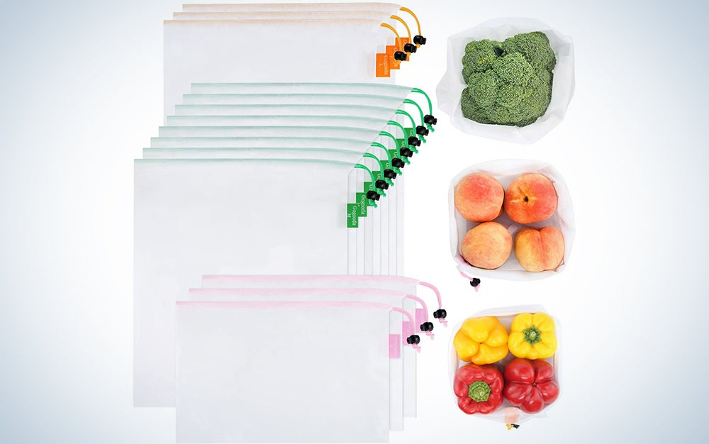 Gogoda 15 Pieces Premium Reusable Produce Bags
