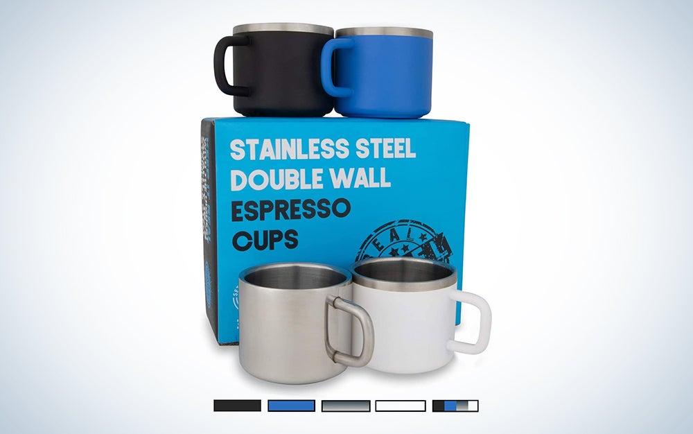 Real Deal Steel Espresso Cups