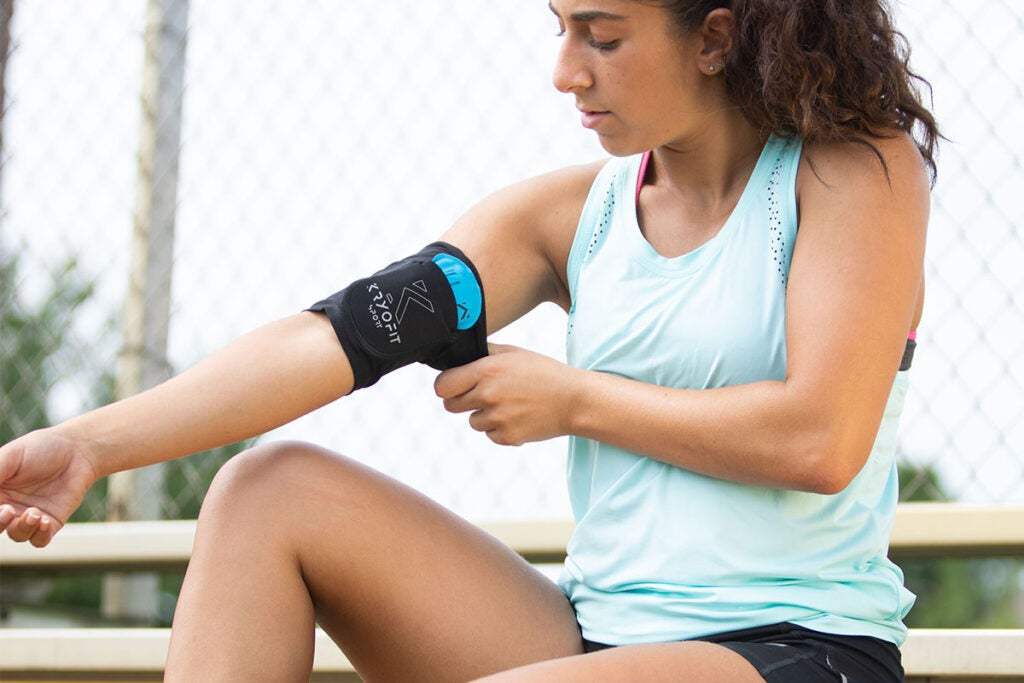 Cold Bicep/Knee Compression Sleeves with Freeze Gel Inserts