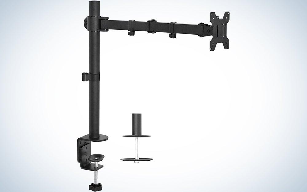 Vivo Single LCD Monitor Desk Mount Stand Fully Adjustable/Tilt/Articulating for 1 Screen 13″ to 27″ (STAND-V001)