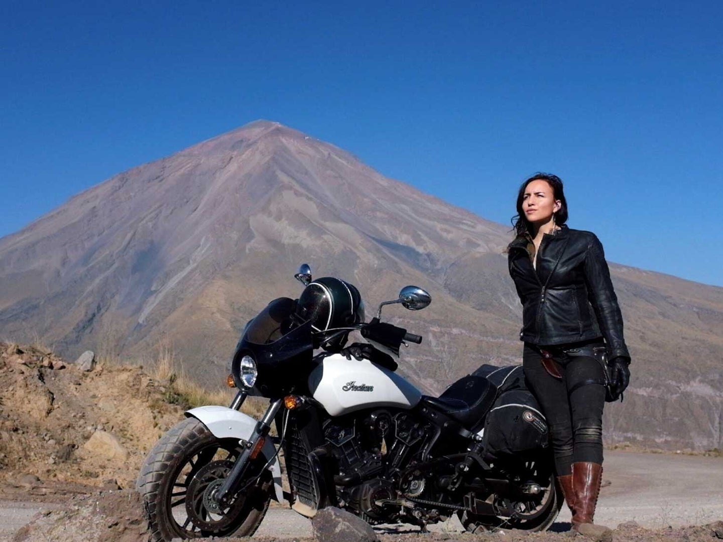 Armored Roland Sands Design gear (Mia Jacket, Julian Pant, Bonnie Gloves), leather boots I can run in if I need to, fixed blade clearly visible, wind in my hair, and the beating drum of nature in my heart.