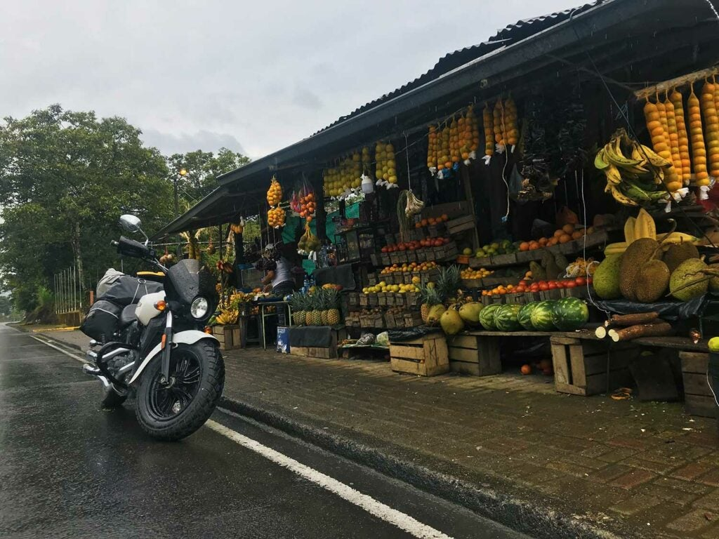 I've always got knives with me—which I mostly use at wonderful, roadside fruit stands like this one. Tungurahua, Ecuador.