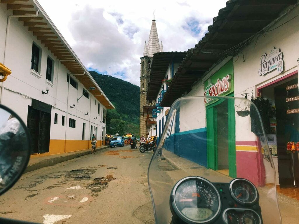 If you wait for others to join you on that motorcycle adventure you've been dreaming about, it may never happen. May as well get some practice in. Antioquia, Colombia.