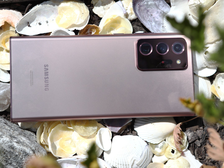 Samsung Galaxy Note20 Ultra 5G smartphone.