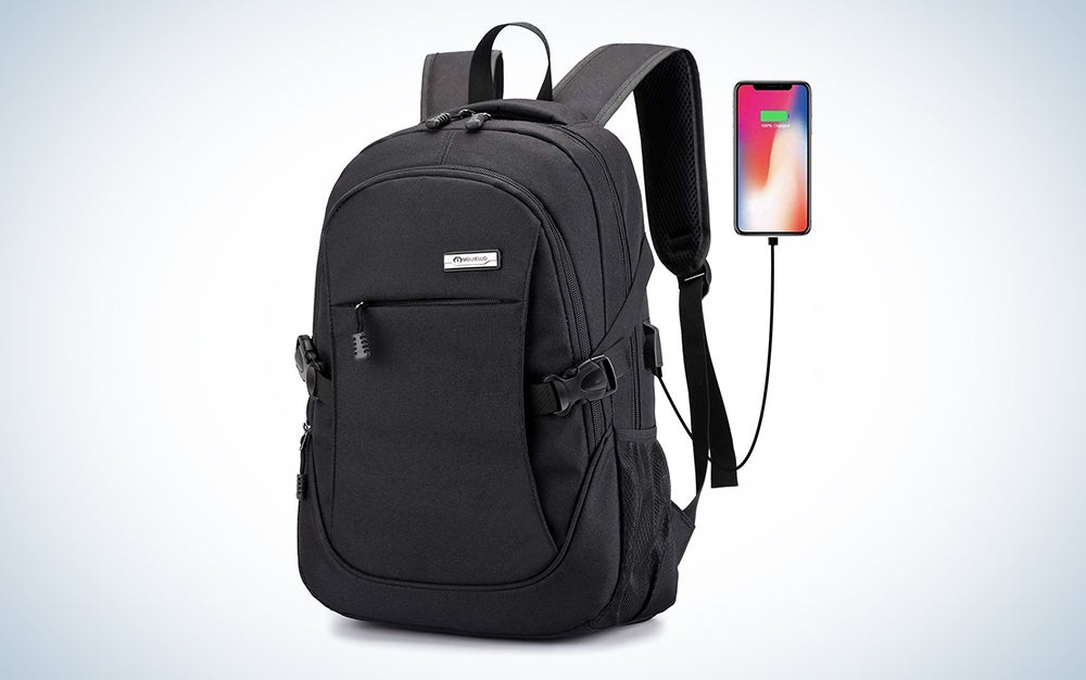 Ranvoo Laptop Backpack, Business Waterproof Travel Backpack with USB Charging Port interface for College Student for Women Men,Fits Under 15'6-Inch Laptop Notebook