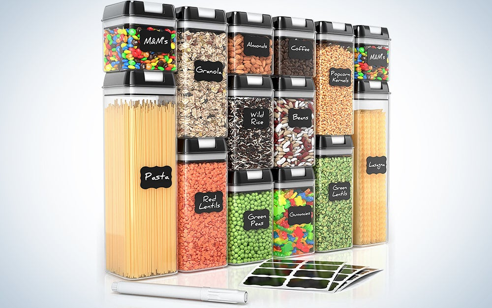 Airtight Food Storage Containers for Pantry Organization and Storage by Simply Gourmet
