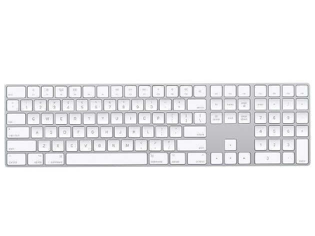 Apple Magic Keyboard with Numeric Keypad - Silver (Certified Refurbished)