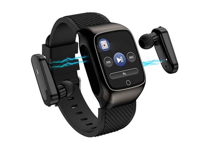 2-in-1 Compact Smart Fit Watch & Bluetooth Earpods