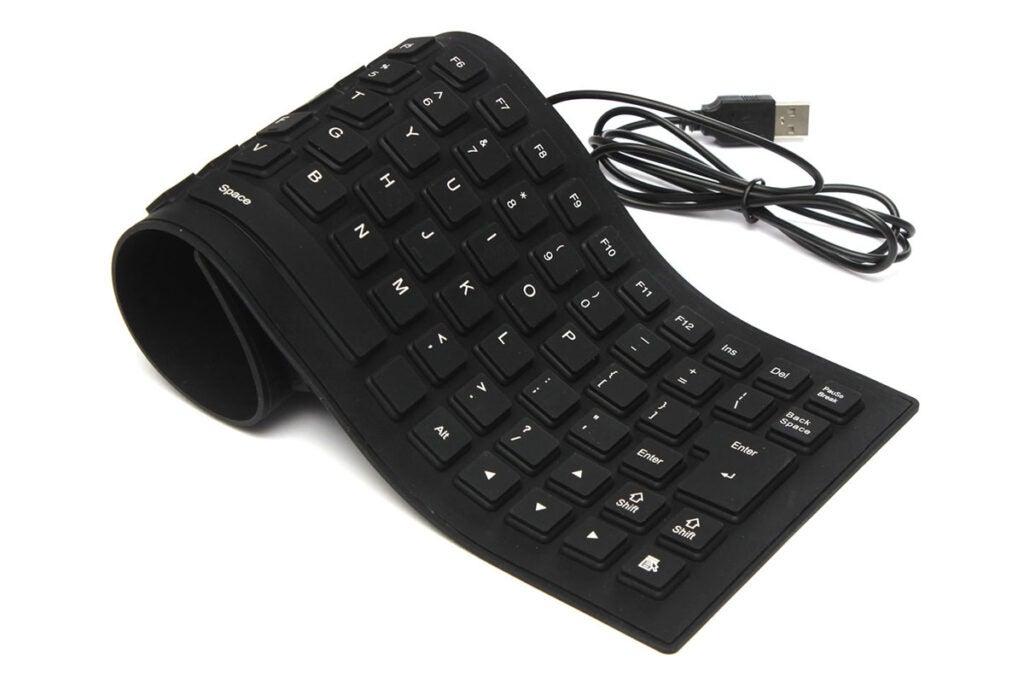 Portable Flexible Silicone Keyboard