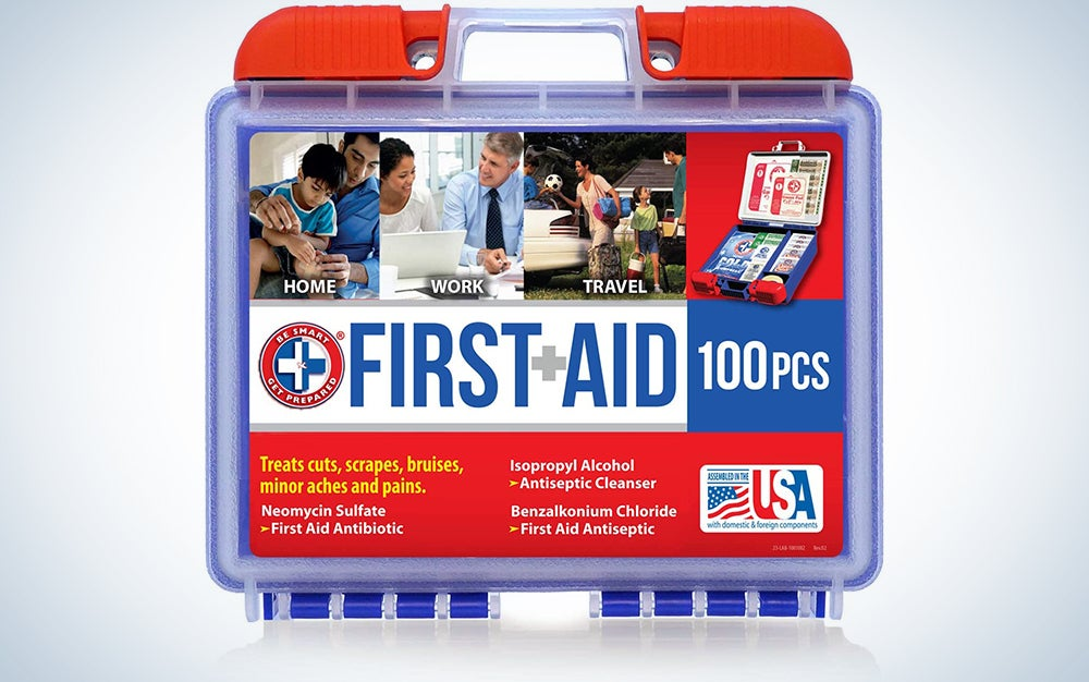 Be Smart Get Prepared 10HBC01082 100- Piece First Aid Kit
