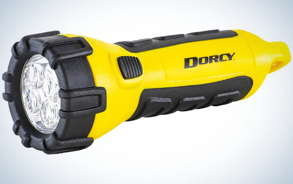 Dorcy 41-2510 Floating Waterproof LED Flashlight with Carabineer Clip, 55-Lumens