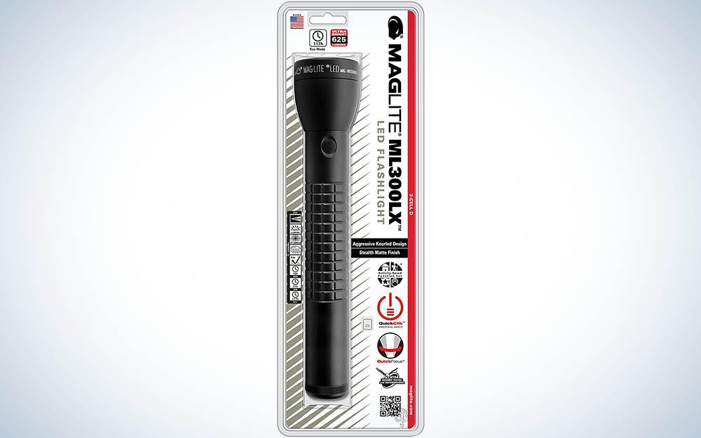 Maglite ML300LX LED 3-Cell D Flashlight, Matte Black