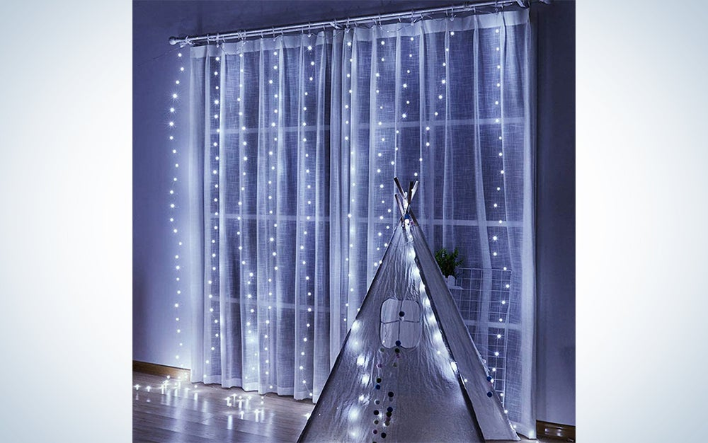 Curtain Lights, 8 Modes Fairy Lights String with Remote Controller