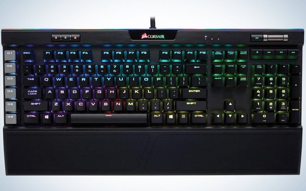 Corsair K95 RGB Platinum Mechanical Gaming Keyboard - 6x Programmable Macro Keys - USB Passthrough & Media Controls - Fastest Cherry MX Speed - RGB LED Backlit