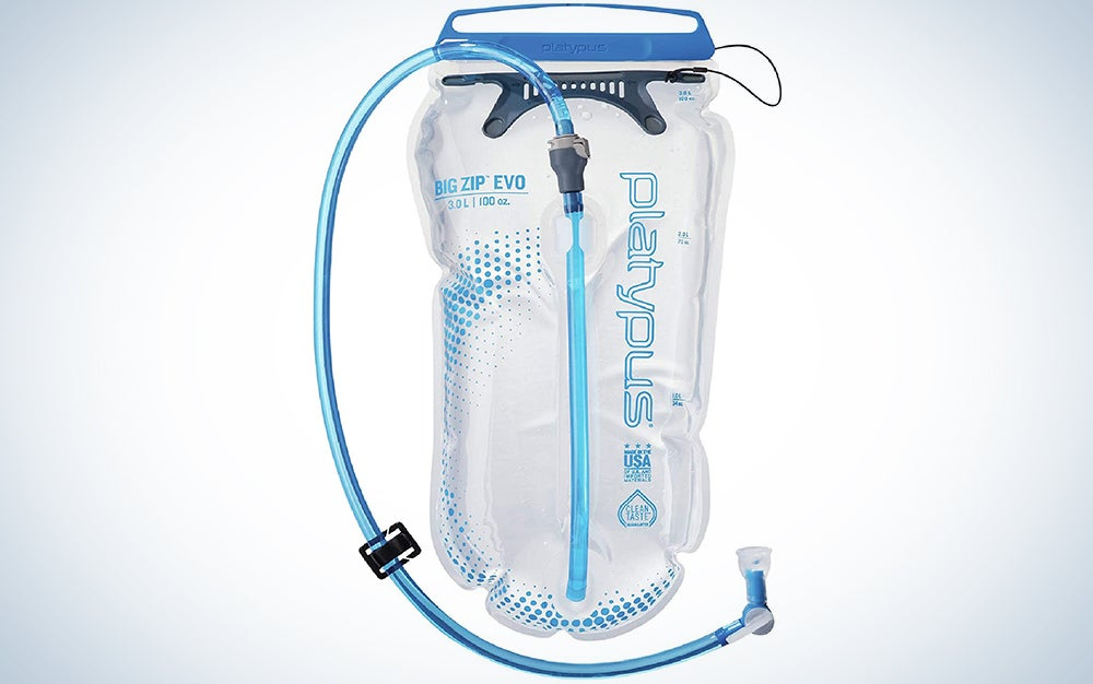 Platypus Big Zip Water Reservoir for Hydration Backpacks, 3-Liter, EVO with Fast Flow Valve