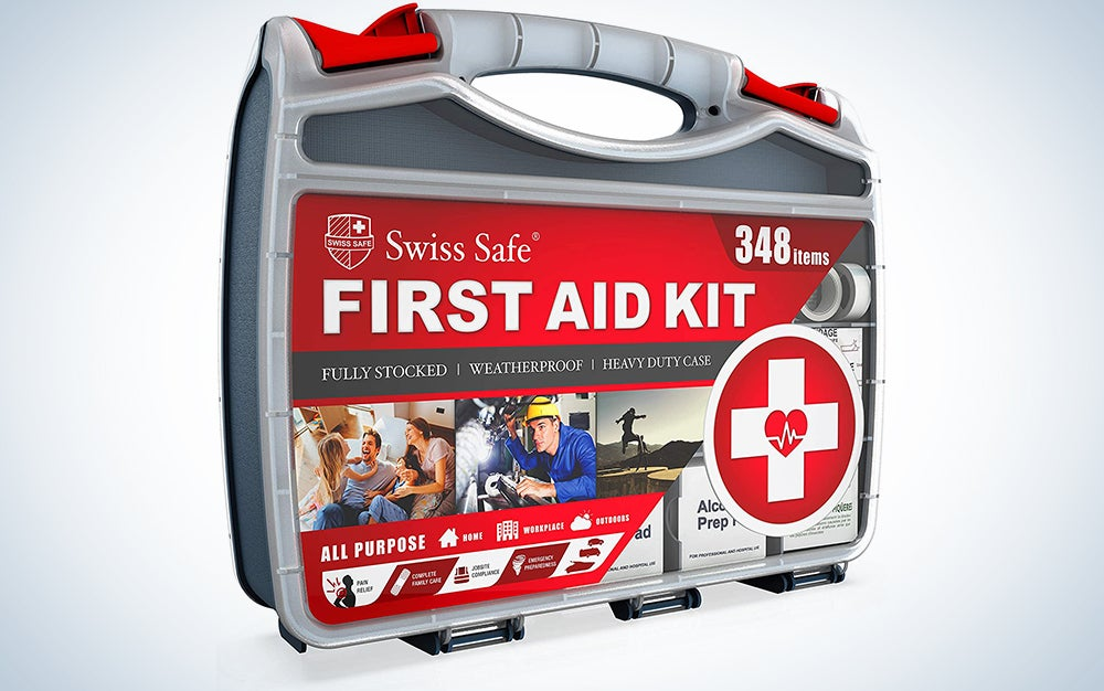 2-in-1 First Aid Kit (348-Piece) 'Double-Sided Hardcase' + Bonus 32-Piece Mini Kit: Perfect for Home & Workplace Safety