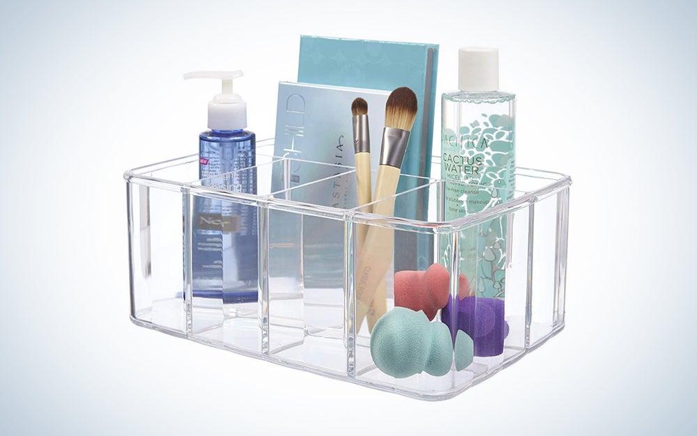 STORi Clear Plastic Organizer | 5-Compartments