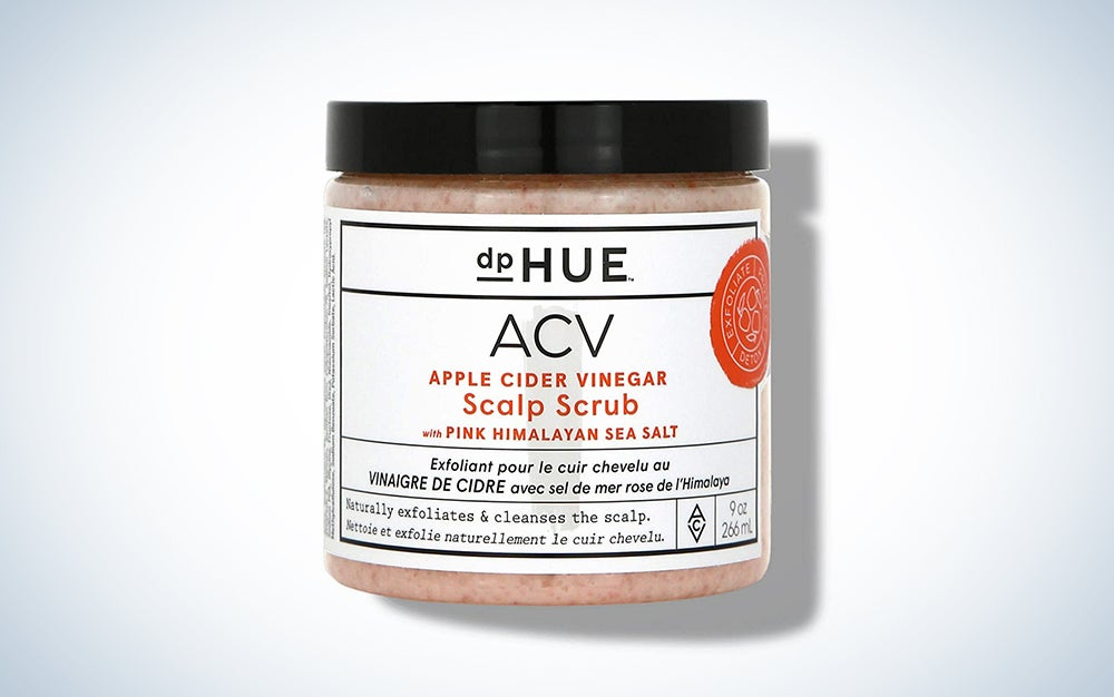 dpHUE Apple Cider Vinegar Scalp Scrub with Pink Himalayan Sea Salt, 9 oz - Natural Exfoliating Scrub & Dry Scalp Treatment - Aloe Vera & Avocado Oil - Gluten Free, Vegan