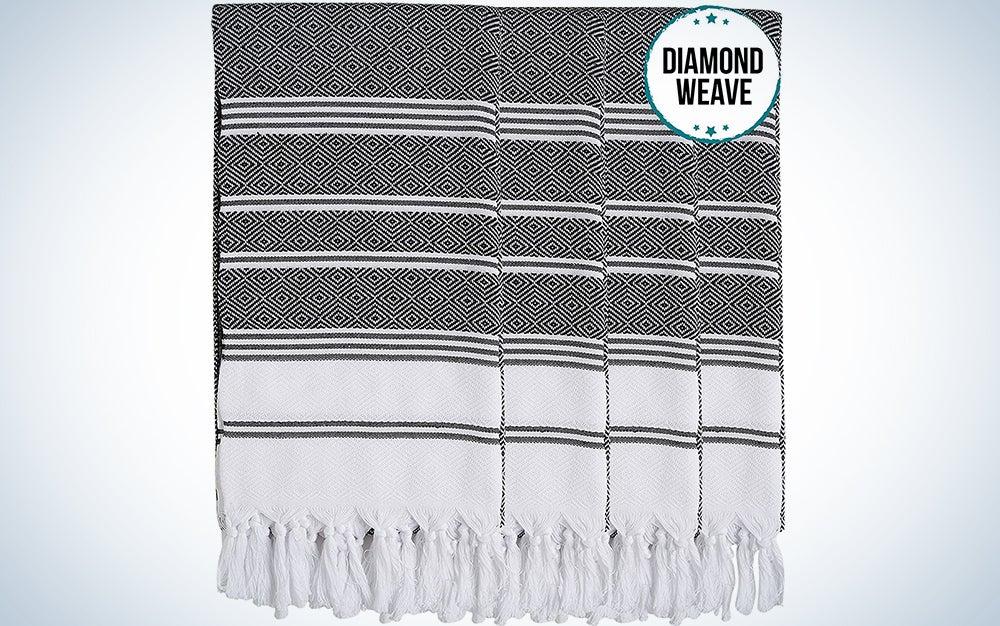 New Season Brightest Diamond Weave Turkish Cotton Bath Beach Hammam Towel