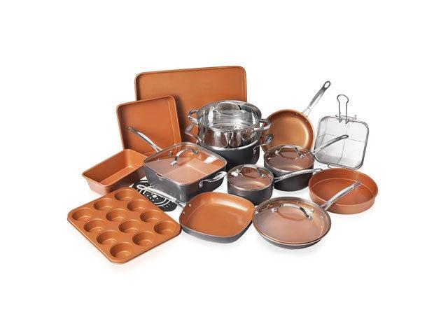 20-Piece Non-Stick Cookware With Lids & Bakeware Set