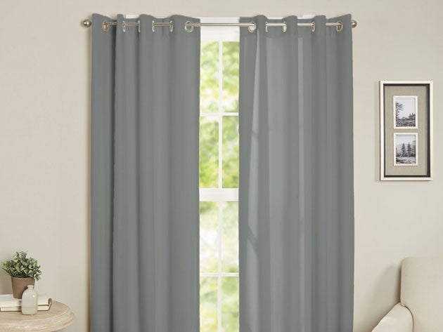 Maria Thermal Blackout Grommet-Top Curtain: 2 Panels