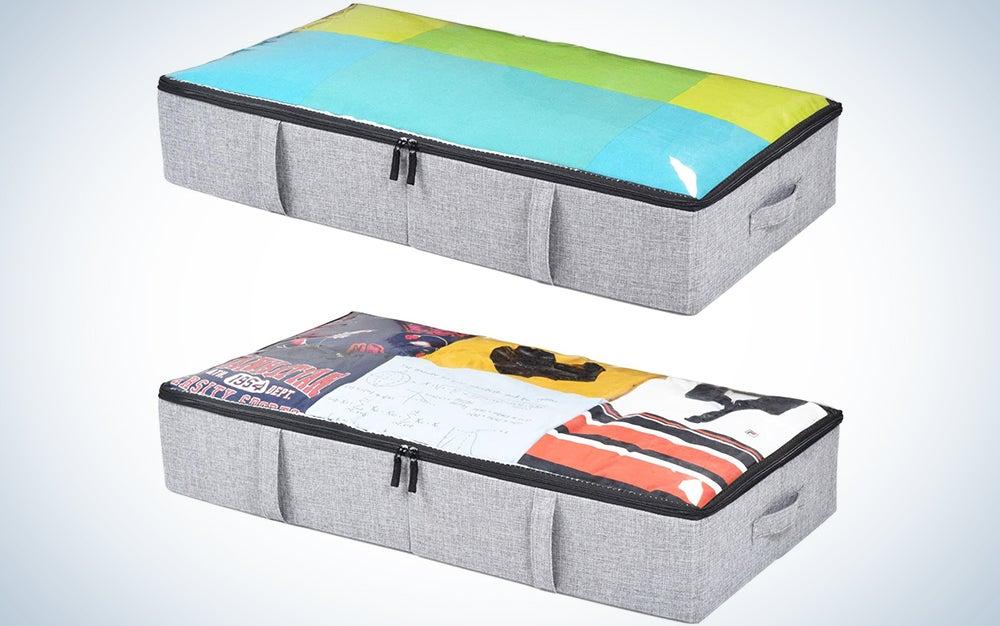 storageLAB Underbed Storage Containers - 2-Pack, 33x17x6in