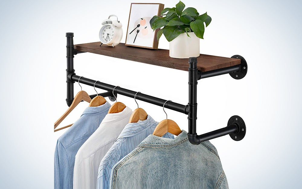Oyydecor Industrial Pipe Clothes Rack