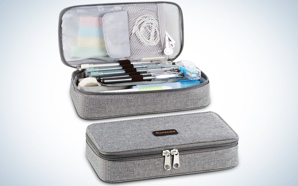 Homecube Pencil Case Big Capacity Pen Marker Holder Pouch Box Makeup Bag Oxford Cloth Large Storage Stationery Organizer with Zipper for School Office