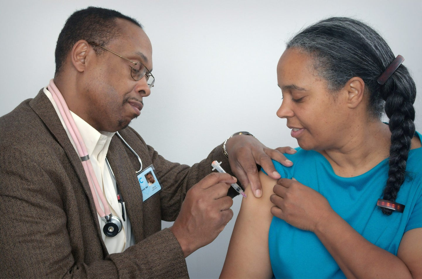 person receiving a vaccine