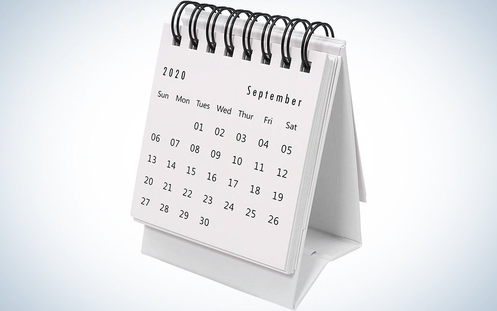 Stand-Up Monthly One-Year Desktop Calendar