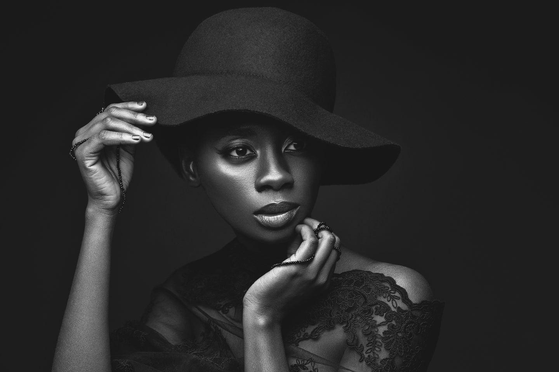 Black model in grayscale